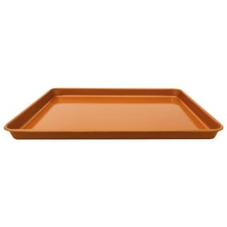 "Gotham Steel Non-Stick Cookie Sheet Baking Pan - 17.6"" x 11.8"" x 1"" - Brown"