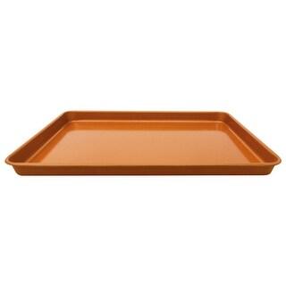 "Gotham Steel Non-Stick Cookie Sheet Baking Pan - 17.6"" x 11.8"" x 1"" - Brown"