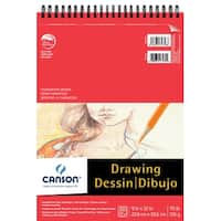 Canson Foundation Acid-Free Heavy Weight Drawing Pad, 30 Sheets