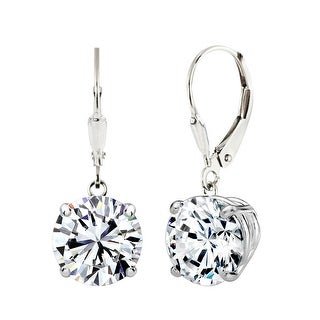 Link to Solstice Sterling Silver Round Swarovski Zirconia Leverback Earrings Similar Items in Earrings