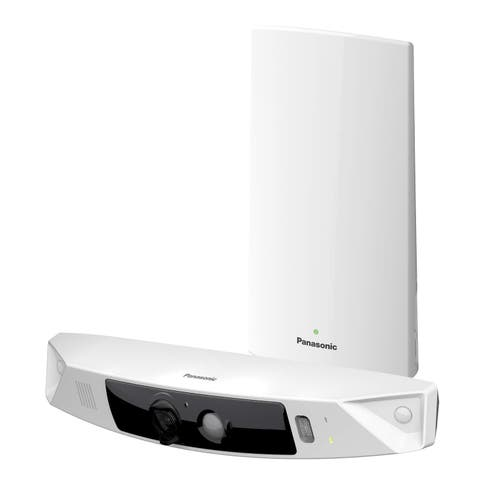 Panasonic HomeHawk Home Monitoring HD Front Door Camera, Simple Wire-free Setup, No Fees or Cloud Service Needed.