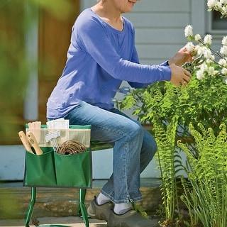 "Garden Kneeler and Seat Bench Chair Stool Folding 19.5""x24""x10"""