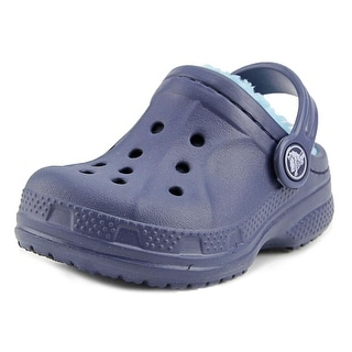 Crocs Winter Clog Toddler  Round Toe Synthetic Blue Clogs