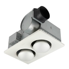 Broan 164 Exhaust Fan With Infrared Heater Lamps, 70 CFM