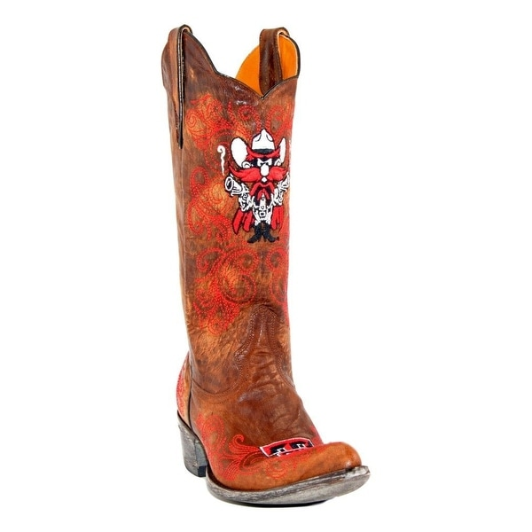 """Gameday Boots Women Texas Tech 13"""" Shaft Pointed Toe Leather"""