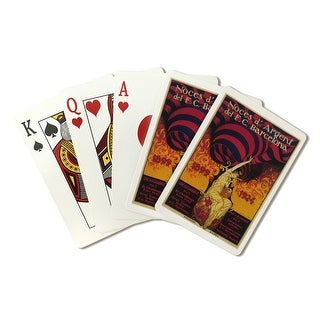 Barcelona, Spain - Soccer - Vintage Advertisement (Playing Card Deck - 52 Card Poker Size with Jokers)