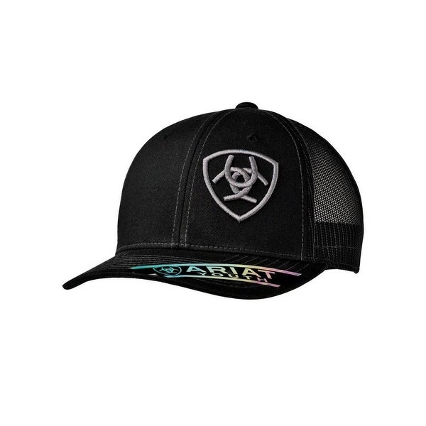 6d6afc9905271 Shop Ariat Western Hat Boys Snap Logo Mesh Baseball One Size Black - Free  Shipping On Orders Over  45 - Overstock.com - 19676062