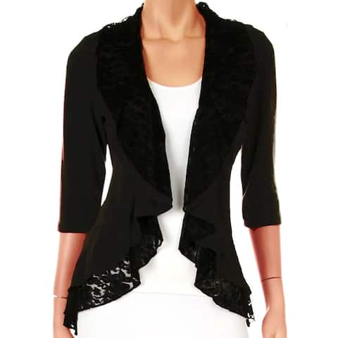 Funfash Plus Size Cardigan Black Lace Layered New Womens Sweater