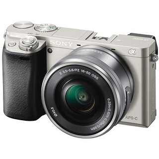 Sony Alpha a6000 24.3 MP Interchangeable Lens Camera with 16-50mm Power Zoom Lens (Silver)