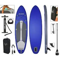 "Vilano Navigator 10' 6"" Inflatable SUP Stand Up Paddle Board Package"