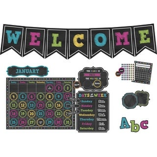 Teacher Created Resources Chalkboard Brights Accents Board Kit
