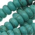 Blue Turquoise Gem Rondelle Beads 6 x 3mm/16 Inch Strand - Thumbnail 0