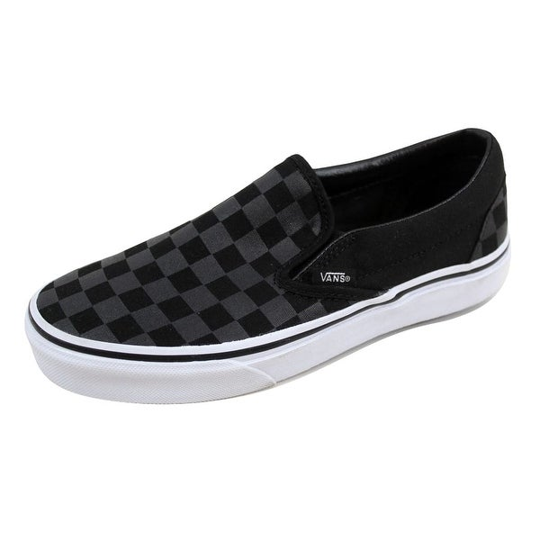 ca49950216 Shop Vans Men s Classic Slip On Checkerboard Black Black VN-0EYE276 ...