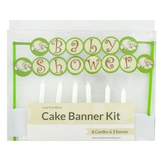 Baby Shower Cake Banner & Candles Kit - Pack of 24