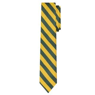 "Jacob Alexander Stripe Woven Men's Slim 2.75"" College Striped Tie - One size"
