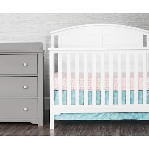Forever Eclectic Hampton Curve Top 4-in-1 Convertible Baby Crib