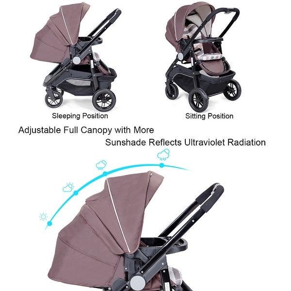 Aluminum Lightweight Foldable Baby Stroller Newborn Infant Kids Travel Pushchair