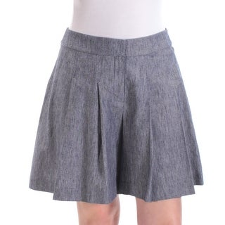 NINE WEST $79 Womens New 1543 Navy Pleated Wide Leg Casual Short 8 B+B