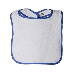 Rabbit Skins Infant Contrast Trim Terry Bib - Royal - One Size