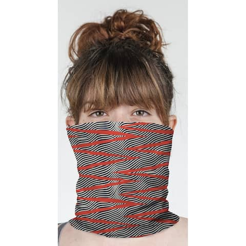 """WAVE RIDE RED Neck Gaiter By Becky Bailey - 10"""" x 18"""""""