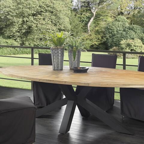 Outdoor Chiara Reclaimed Teak Dining Table - 110