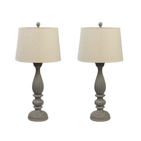 Set of 2 Clifford Resin Table Lamps