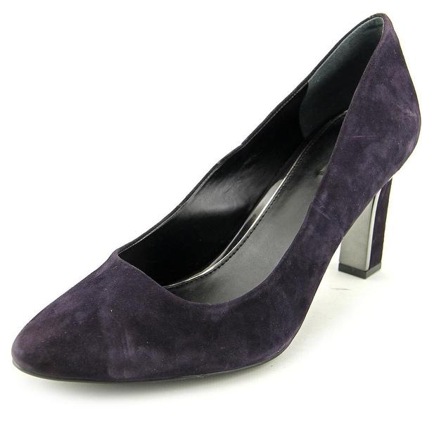 Alfani Prima Taluluh Women Pointed Toe Suede Purple Heels