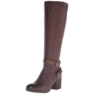 Steven By Steve Madden Womens Olyvvya Riding Boots Leather Buckled