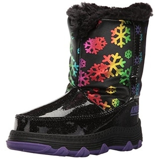 Khombu Girls Joy Snow Boots Toddler Faux Fur