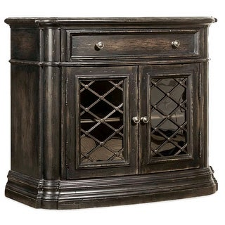 "Hooker Furniture 1595-90016A-LTBK  Auberose 38"" Wide Poplar One Drawer Nightstand - Soft Charcoal"