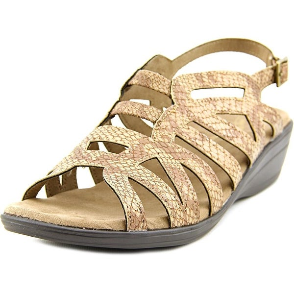 Easy Street Curly WW Open-Toe Synthetic Slingback Sandal