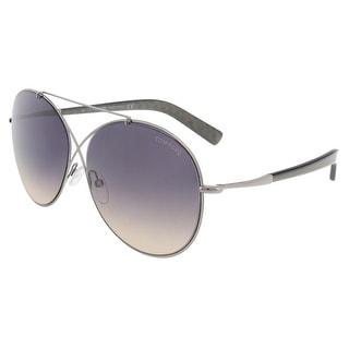 Tom Ford FT0394/S 15B Iva Silver Aviator Sunglasses