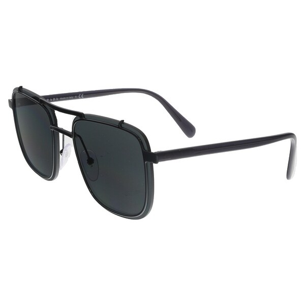 134036c663acb Shop Prada PR 59US 1AB5S0 Black Square Sunglasses - no size - Free ...