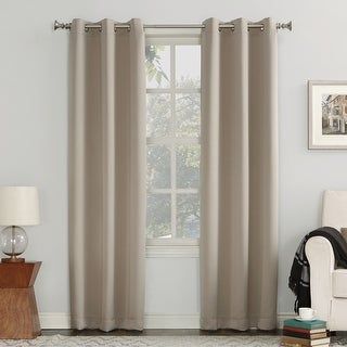 Link to Sun Zero Hayden Energy Saving Blackout Grommet Curtain Panel Similar Items in As Is