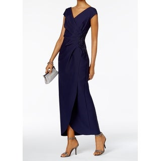 Alex Evenings Womens Petite Embellished Gown Dress