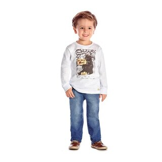 Toddler Boy Long Sleeve T-Shirt Little Boys Graphic Tee Pulla Bulla 1-3 Years