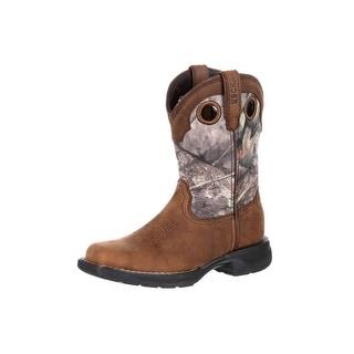 Rocky Western Boots Boys Light Little Kids WP Camo Brown RKW0165