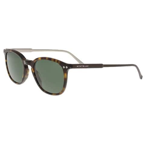 Montblanc MB599S 52R Dark Tortoise Sunglasses - 49-19-145