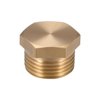 """Brass Pipe Fitting, Cored Hex Head Plug 3/8""""G Male Connector Coupling Adapter - 3/8"""" G 1pcs"""