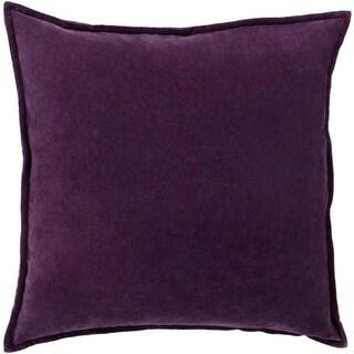 "22"" Calma Semplicita Eggplant Purple Decorative Square Throw Pillow"