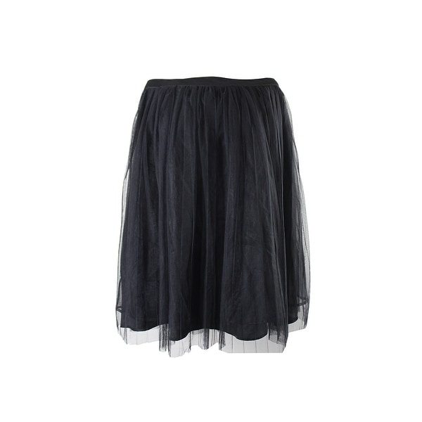 f9e0b47d31 Shop City Chic Trendy Plus Size Black Tulle Pleated A-Line Skirt 16W ...