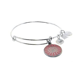 "Alex And Ani Women's Spiral Sun Bangle Bracelet - 9"" - Silver"