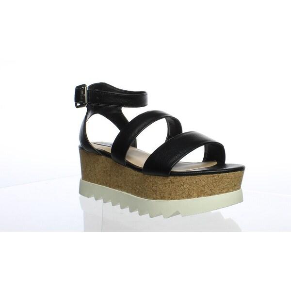 37baddeda90 Shop Steve Madden Womens Kristen Black Leather Ankle Strap Heels Size 6.5 -  Free Shipping On Orders Over  45 - Overstock - 27677710