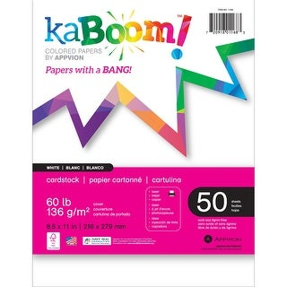 "Appvion Kaboom! 60Lb Cardstock 8.5""X11"" 50 Sheets-White"