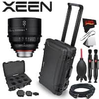 Rokinon Xeen 50mm T1.5 Lens for Canon EF Mount with Rokinon Hardshell Carrying Case - black