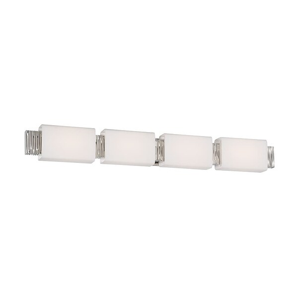 "Modern Forms WS-45541 Aegean 4 Light 41"" Wide Integrated LED Bathroom Vanity Lig - Polished Nickel - n/a"