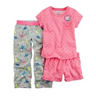 Carter's Baby Girls' 3-Piece Astronaut Mouse Jersey PJs, 12 Months