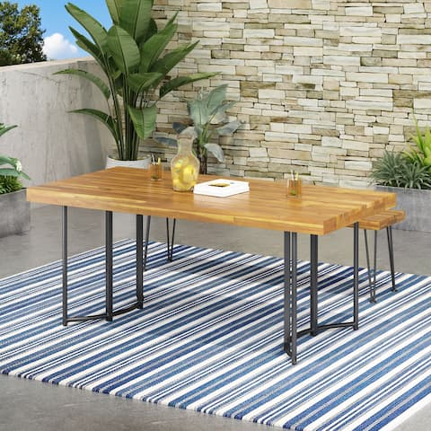 Noah Acacia Wood Dining Table by Christopher Knight Home