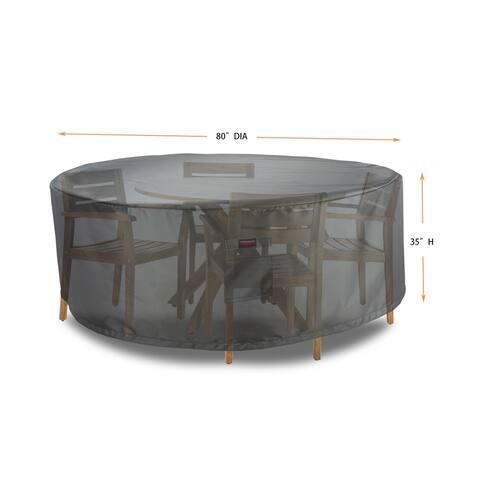 """Dining Set Round 94"""" Cover - Shield Titanium"""