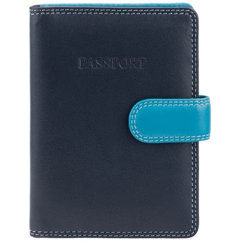 "Visconti 75 Passport Wallet (Multi Color BLUE) - 4.0"" x 5.5"""